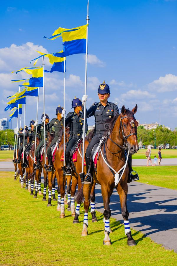 Guardias de caballo de Tailandia fotografía de archivo