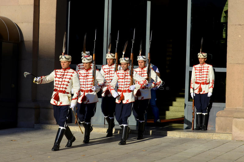 Guardias del honor imagen de archivo