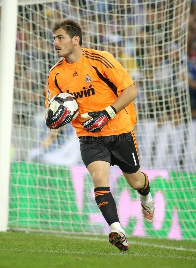 Guardien de but d'Iker Casillas Real Madrid photo libre de droits