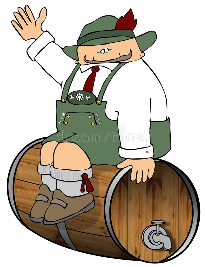 Guarding The Beer stock illustration