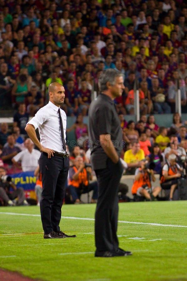 Guardiola et Mourinho photographie stock