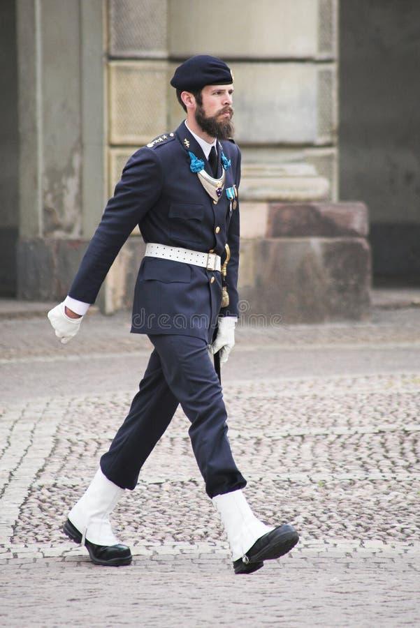 guardkunglig person stockholm fotografering för bildbyråer