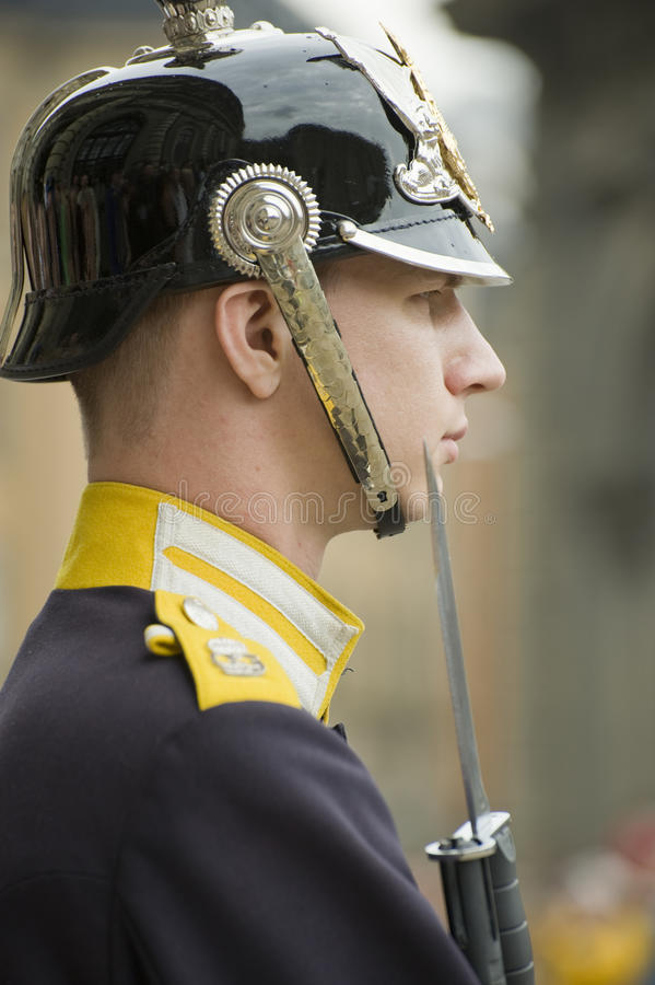 guardkunglig person sweden royaltyfri fotografi