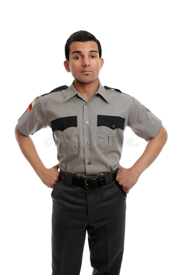 guardpolisfängelse arkivbild