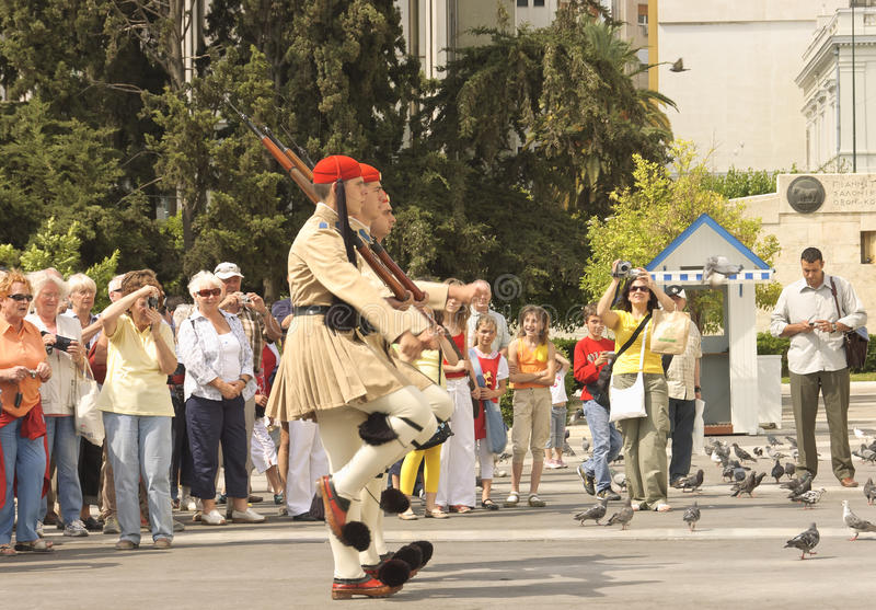 Guards ceremonial parade stock image