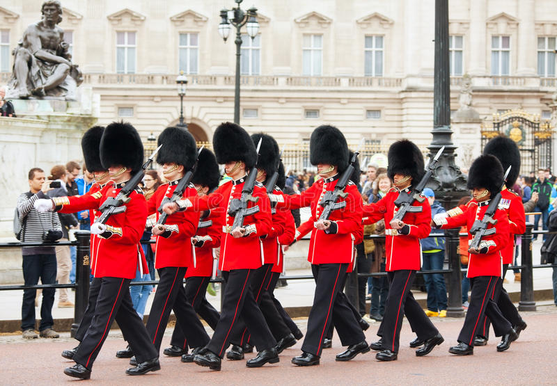 Guards of Honor at the Buckingham palace in London stock image