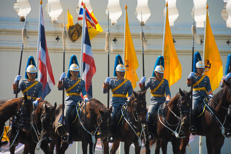 guards monterad radkunglig person royaltyfria bilder