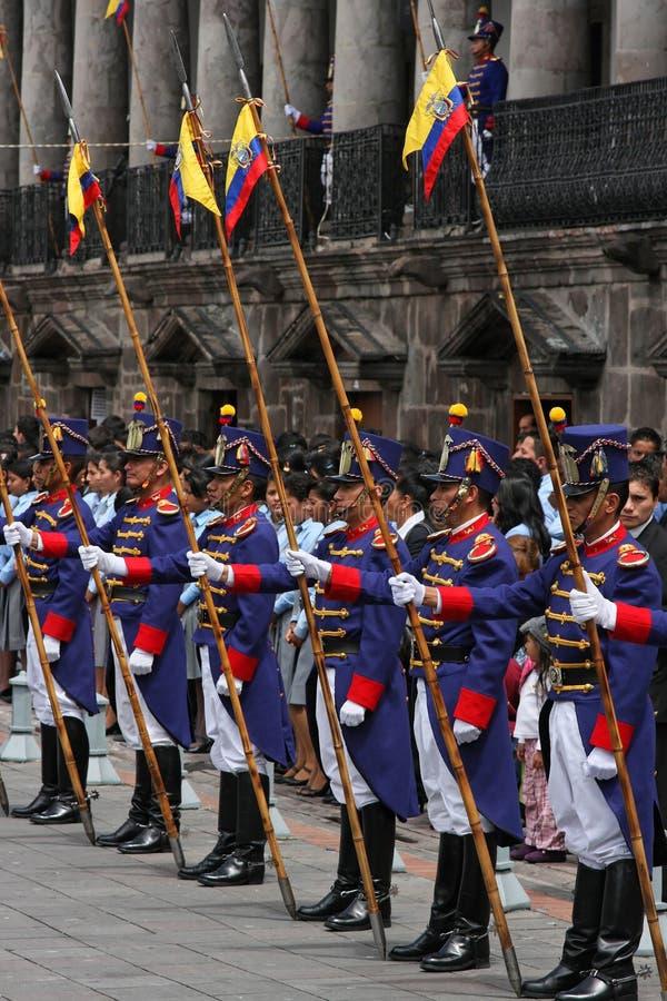 Guards in Quito stock photos