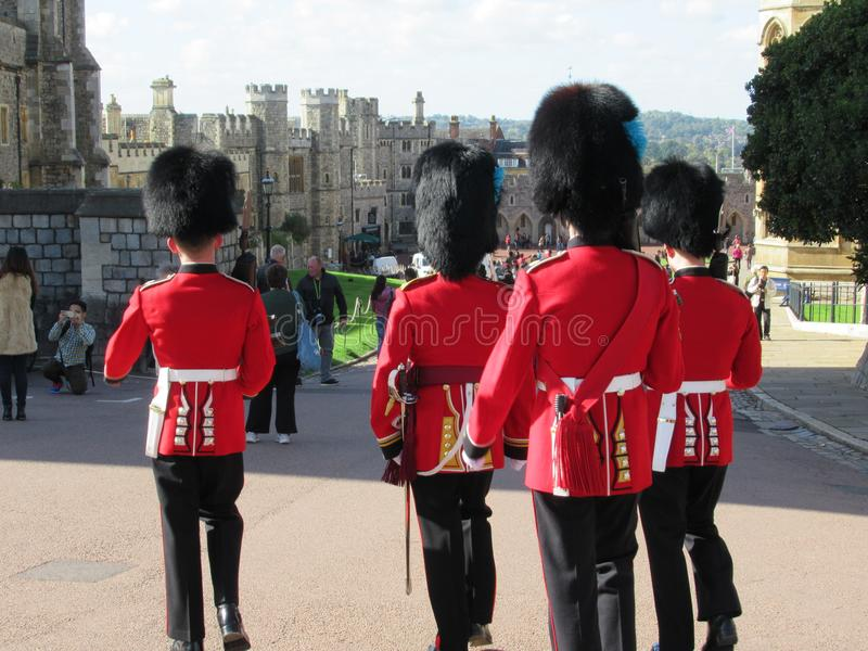 Guards at Windsor Castle stock photo