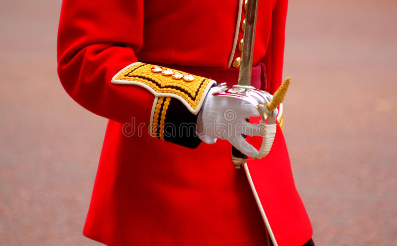 Guardsman. On Trooping The Colour London England royalty free stock photo