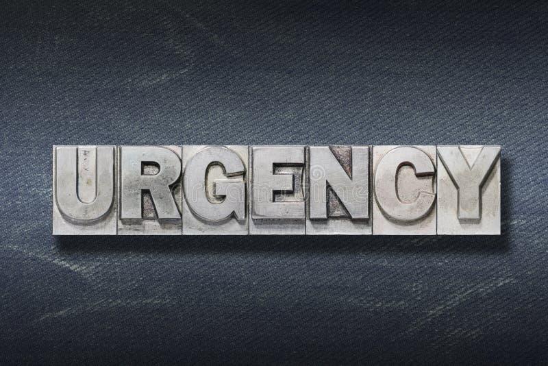 Guarida de la palabra de la urgencia fotografía de archivo