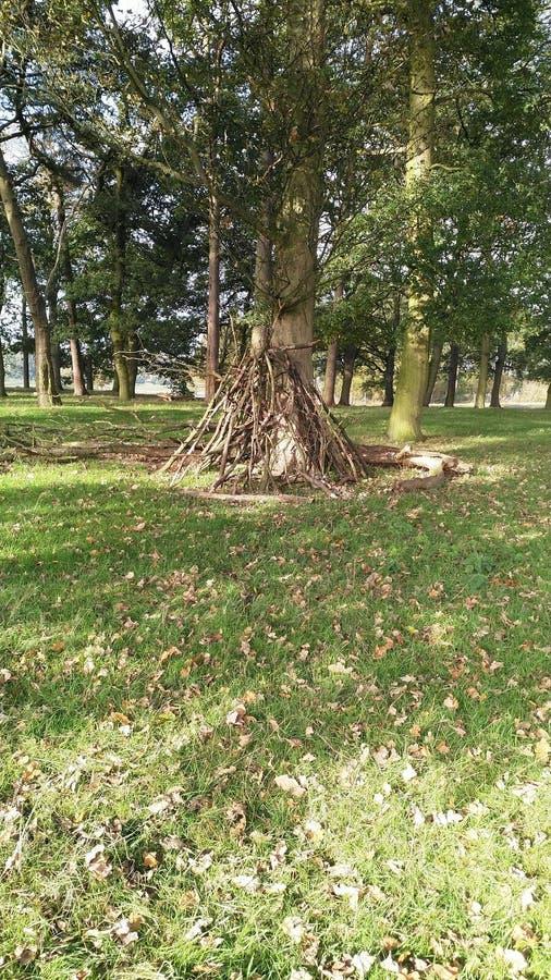 Guarida hecha de las ramitas y de las ramas imagen de archivo