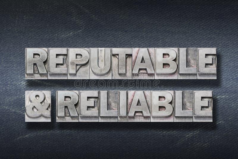 Guarida reputable y confiable imagen de archivo