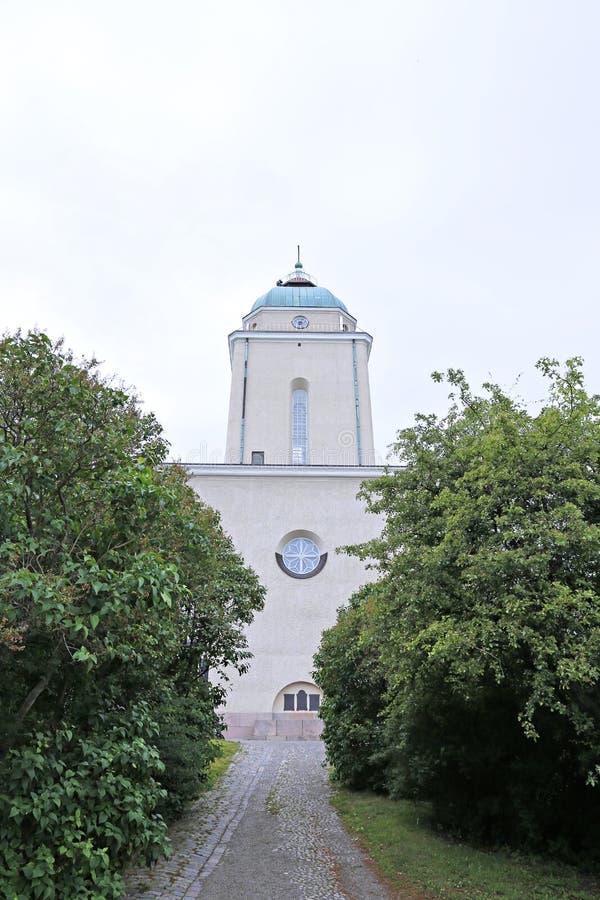 Guarnezca la iglesia en la fortaleza del mar de Suomenlinna en Helsinki fotos de archivo
