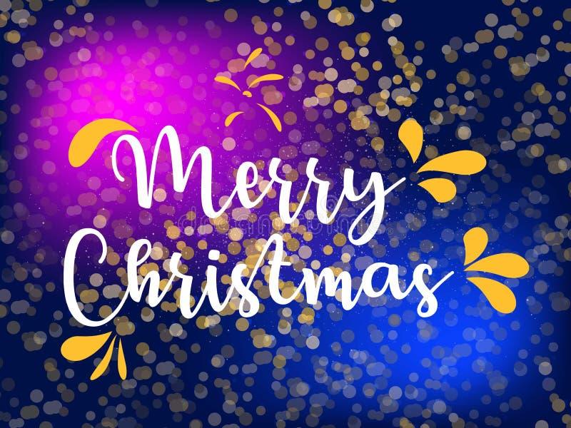 Guarnição do deco do chifre francês do Feliz Natal Logotipo do vetor, tipografia Útil como a bandeira, o cartão, o pacote etc. do ilustração royalty free