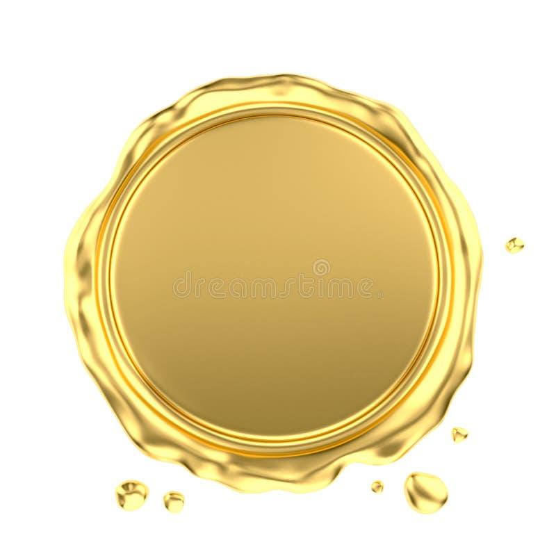 Guarnizione in bianco della cera dell'oro illustrazione di stock