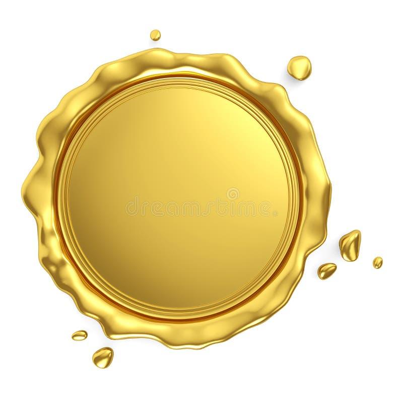 Guarnizione in bianco reale dorata della cera illustrazione vettoriale