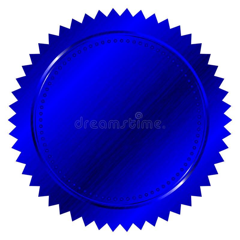 Guarnizione blu illustrazione vettoriale
