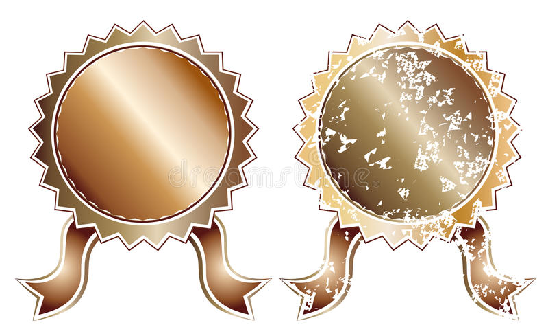 Guarnizione bronzea in bianco illustrazione vettoriale