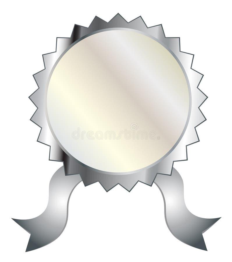 Guarnizione d'argento in bianco illustrazione di stock
