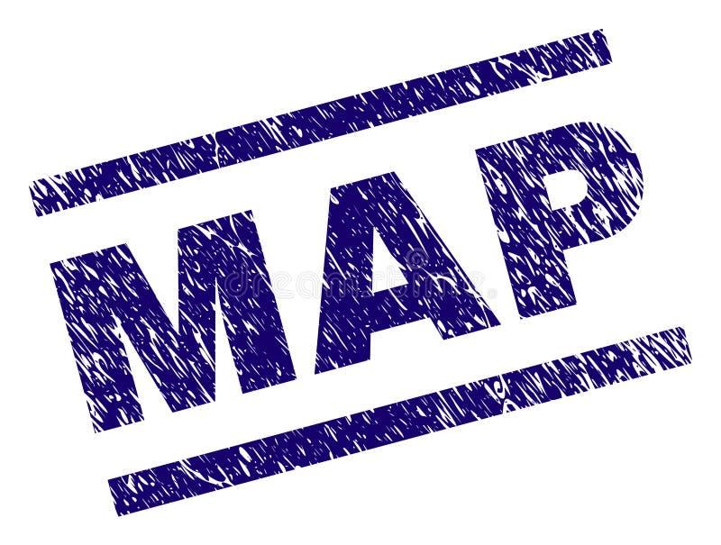 Guarnizione del bollo della MAPPA strutturata lerciume illustrazione vettoriale