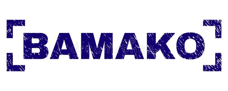Guarnizione del bollo di BAMAKO strutturata lerciume dentro gli angoli royalty illustrazione gratis