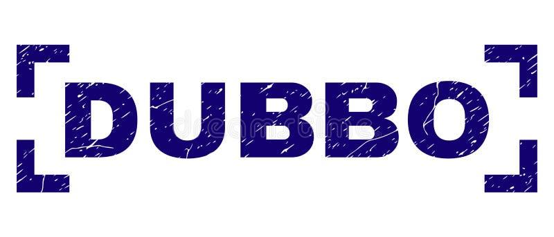 Guarnizione del bollo di DUBBO strutturata lerciume dentro gli angoli illustrazione di stock