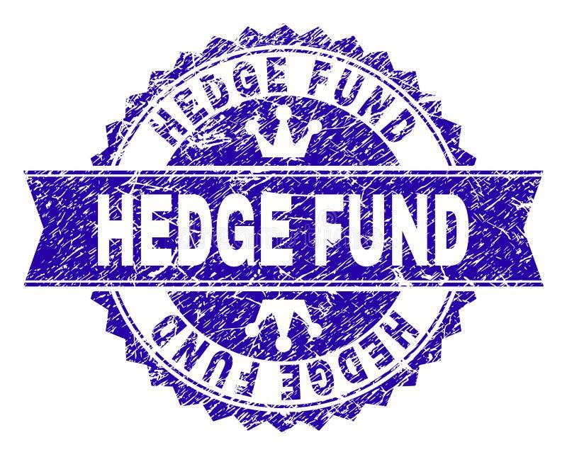 Guarnizione del bollo di HEDGE FUND strutturata lerciume con il nastro royalty illustrazione gratis