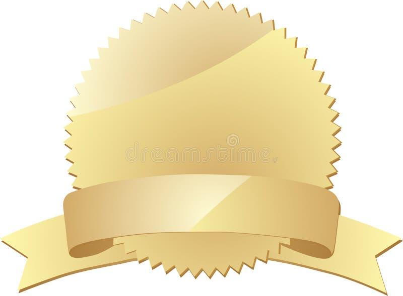 Guarnizione dell'oro con la bandiera illustrazione di stock