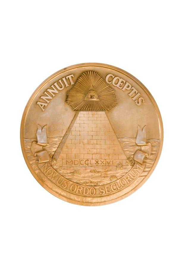 Guarnizione della piramide degli Stati Uniti fotografia stock