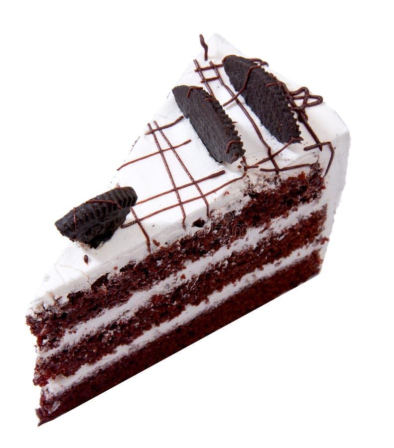 Guarnizione della torta di cioccolato con il mouse fotografia stock