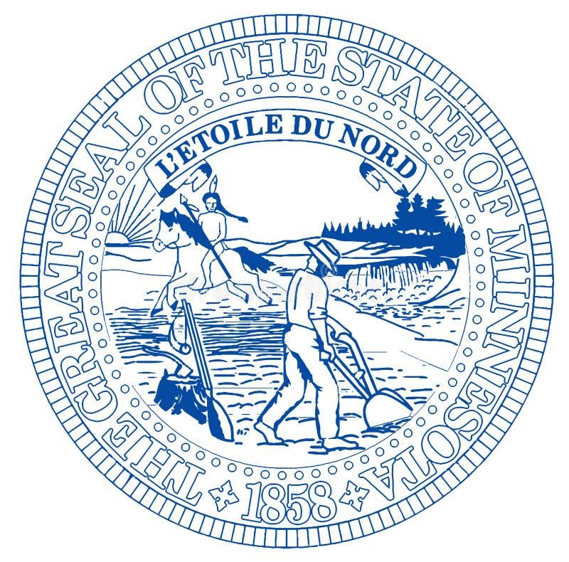 Guarnizione dello stato del Minnesota royalty illustrazione gratis