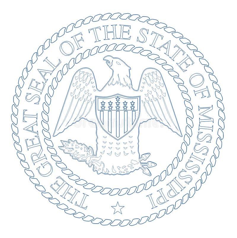 Guarnizione dello stato del Mississippi illustrazione di stock