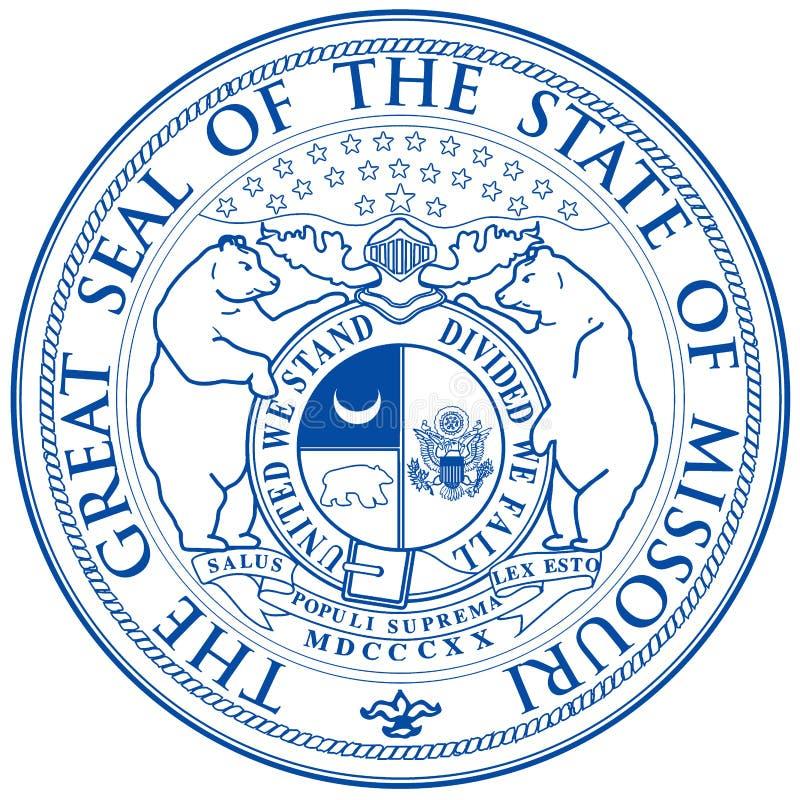 Guarnizione dello stato del Missouri illustrazione vettoriale