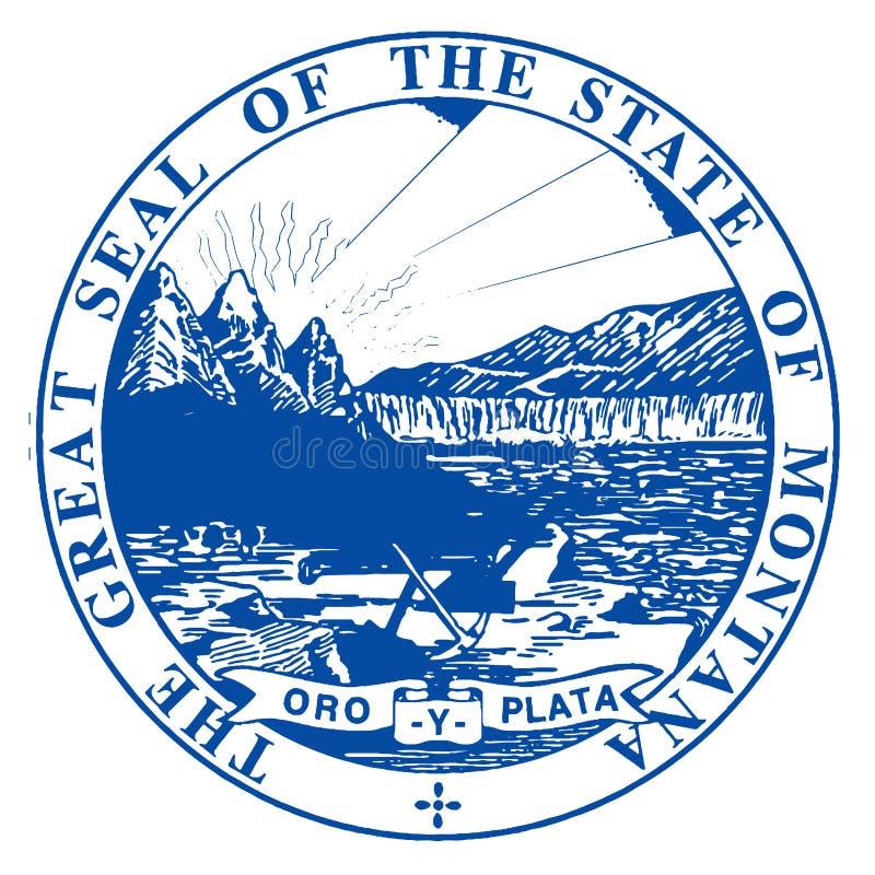 Guarnizione dello stato del Montana illustrazione vettoriale