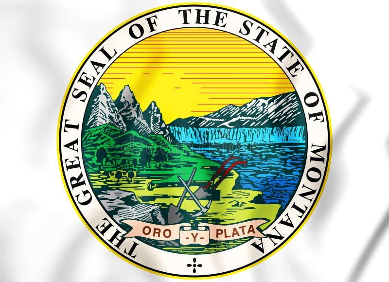 Guarnizione dello stato del Montana, U.S.A. dello stato royalty illustrazione gratis