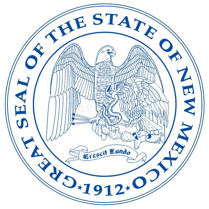 Guarnizione dello stato del New Mexico illustrazione di stock
