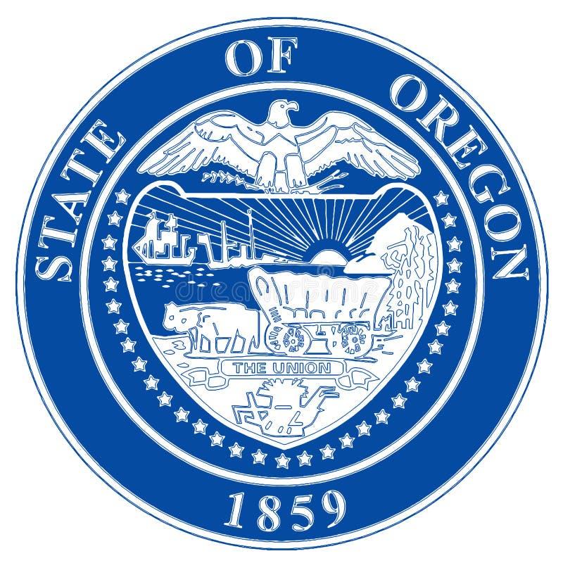 Guarnizione dello stato dell'Oregon illustrazione vettoriale