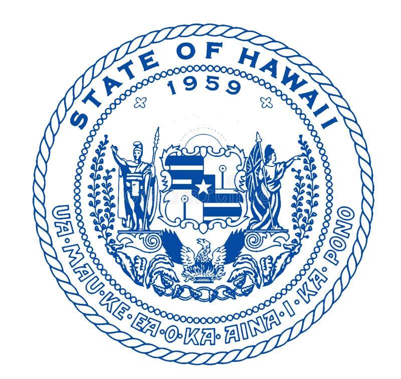 Guarnizione dello stato delle Hawai illustrazione vettoriale