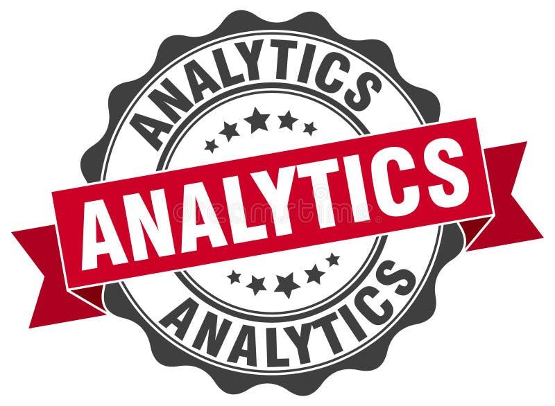guarnizione di analisi dei dati bollo illustrazione vettoriale