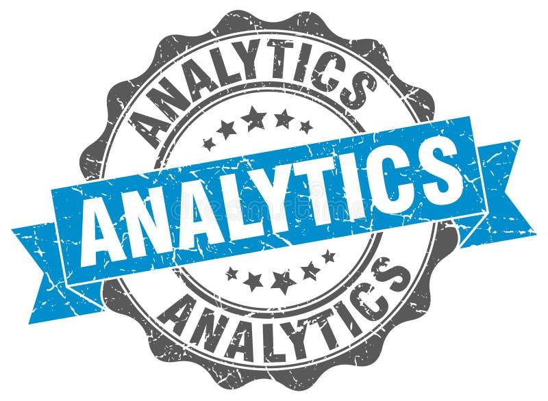 guarnizione di analisi dei dati bollo illustrazione di stock