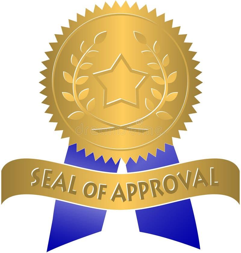 Guarnizione di approvazione royalty illustrazione gratis