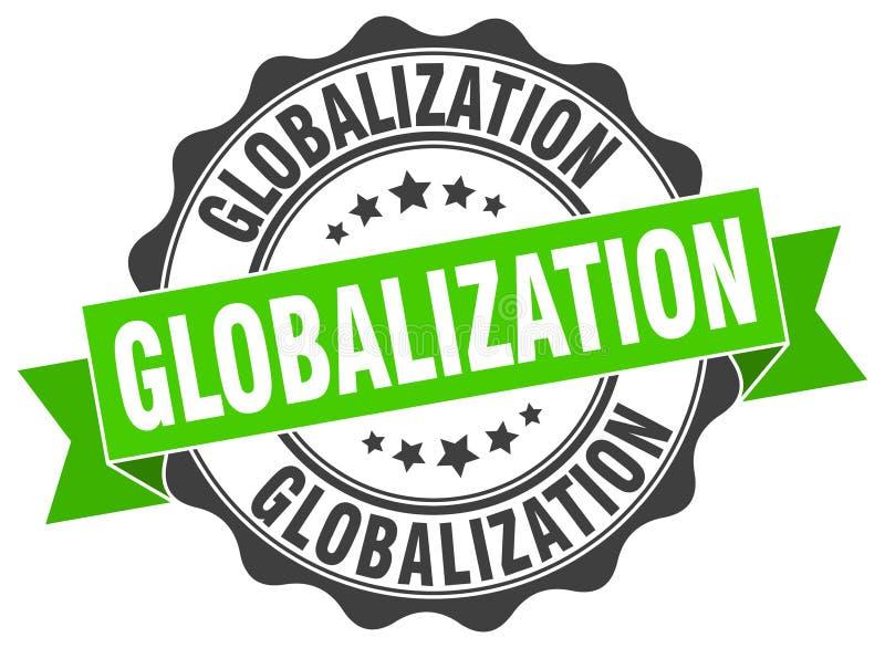 guarnizione di globalizzazione bollo illustrazione di stock