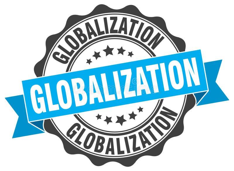 guarnizione di globalizzazione bollo illustrazione vettoriale