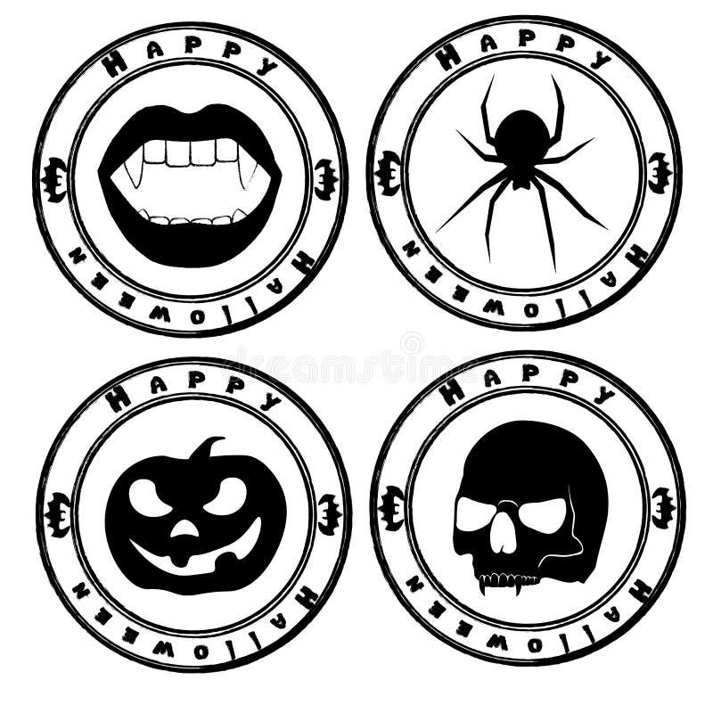 Guarnizione di Halloween illustrazione vettoriale