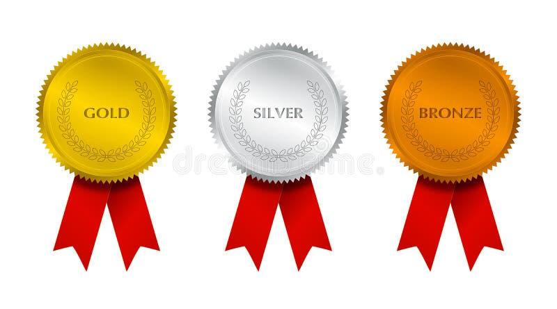 Guarnizione premiata con i nastri illustrazione di stock