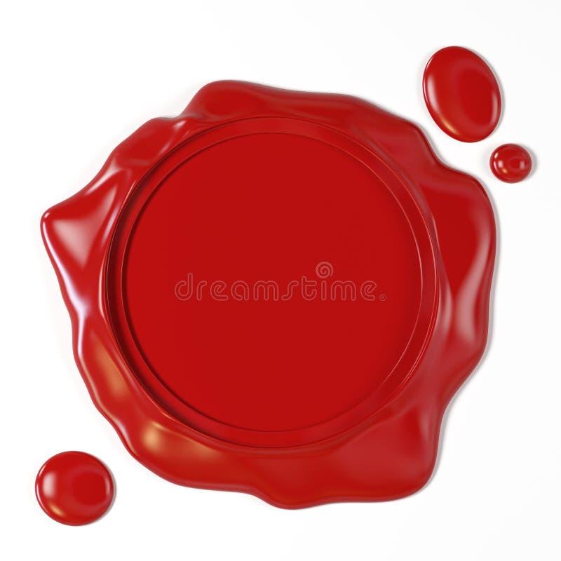Guarnizione rossa della cera illustrazione di stock