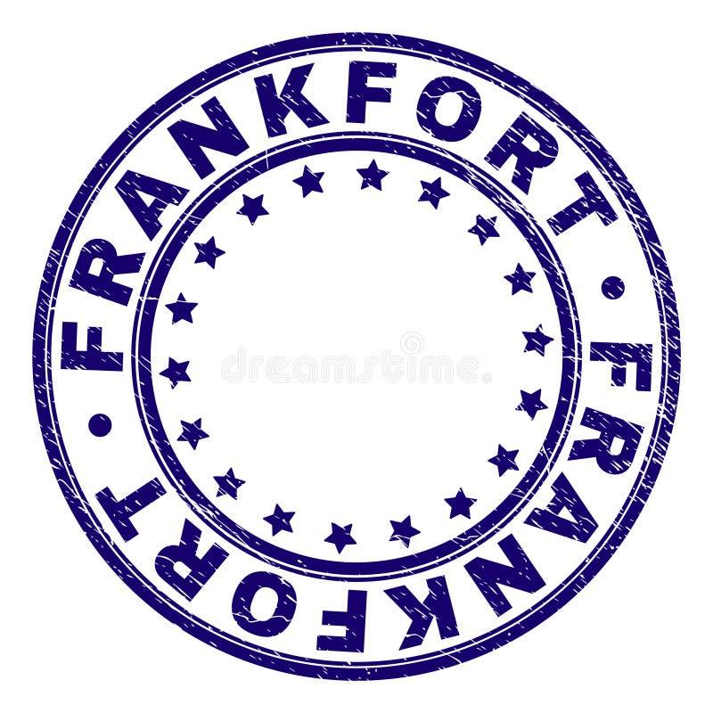 Guarnizione rotonda del bollo di FRANKFURTER strutturato di lerciume royalty illustrazione gratis