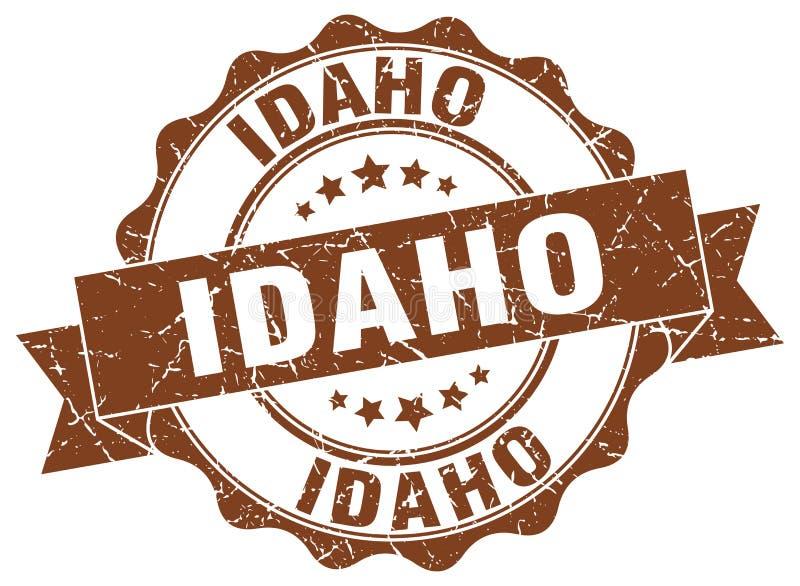 Guarnizione rotonda del nastro dell'Idaho illustrazione vettoriale