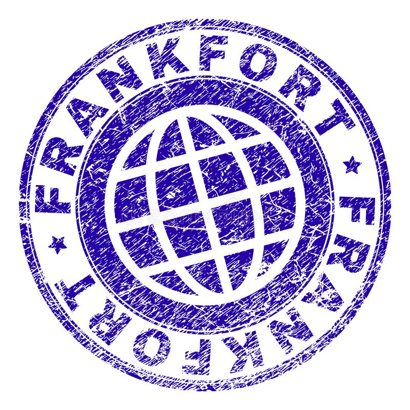 Guarnizione strutturata del bollo di FRANKFURTER di lerciume royalty illustrazione gratis